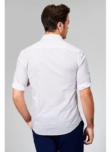 Avva Desenli Uzun Kolllu Gömlek Pembe